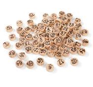 90 piezas de bingo de madera lote de 90