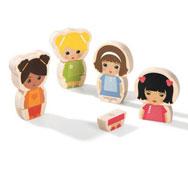 Puzzle magnético niñas el conjunto