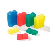 Bloques de construcción blandos y translúcidos lote de 24