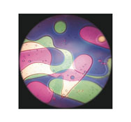 Disco líquido violeta/verde la unidad