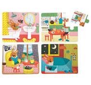 Caja de puzzles la casa lote de 4