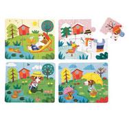 Caja de puzzles las cuatro estaciones lote de 4