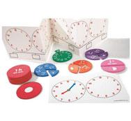 Kit de actividades la hora y el tiempo transcurrido el conjunto