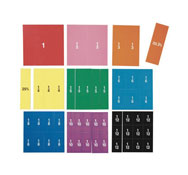 Conjunto de fracciones magnéticas pvc bandas lote de 9