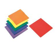 Cuadrados marcaje de suelo de plástico cuadrados lote de 6