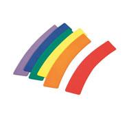 Curvas marcaje de suelo de plástico curvas lote de 6