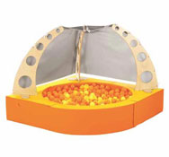 Cabaña  bolas abierta basic con bolas el conjunto