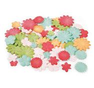 Flores y hojas de papel los 75