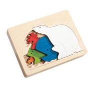 Puzzle 5 niveles animales polares la unidad