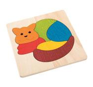 Puzzle encajable animales gato el conjunto