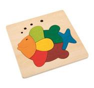Puzzle encajable animales pez el conjunto
