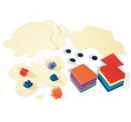 Set creativo de papel de seda el conjunto