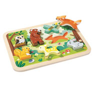 Puzzle encajable 2 en 1 animales del bosque la unidad