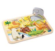 Puzzle encajable 2 en 1 animales del zoo la unidad