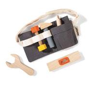 Cinturón para herramientas de madera el conjunto