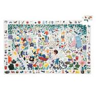 Puzzle cenefa naturaleza 1000 flores la unidad