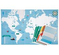 Póster mosaicos mapa del mundo el conjunto