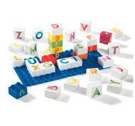 Ladrillos de construcción ecológicos las letras el conjunto
