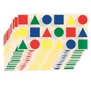 Gomets formas geométricas formas geométricas lote de 216