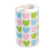 Gomets de corazones en rollo colores pastel aprox. 900