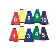 Cuellos de cono numerados (del 1 al 10) los 10