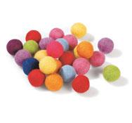 Pompones de lana de fieltro multicolor los 25