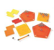 Construcción magnética geomag 64 piezas lote de 64