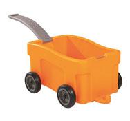 Carro/cubeta de almacenaje loco con asa el conjunto