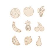 Formas imantadas para colorear frutas los 9