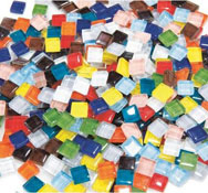 Fragmentos de mosaicos en pasta de vidrio aprox. 840
