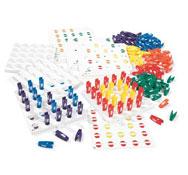 Juego de pinzas de colores y posiciones las 4 unidades de juego el conjunto