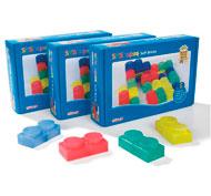 Maxi lote bloques de construcción mullidos y translúcidos lote de 72