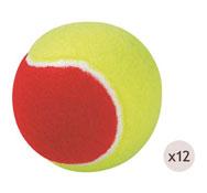 Pelotas de tenis de iniciación ø 75 mm los 12