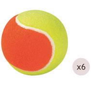 Pelotas de tenis de iniciación ø 65 mm los 6