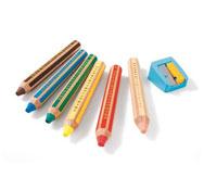 Lápices de colores 3 en 1 buddy lote de 6