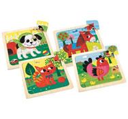 Puzzles animales divertidos maxi lote los 4