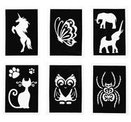 Plantillas especial textil animales lote de 6