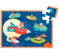 Puzzle animales en el espacio la unidad
