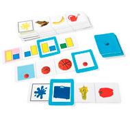 Fichas autocorrectivas colores, formas y tamaños el conjunto