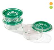 Cajas herméticas de vidrio 30 cl lote de 3