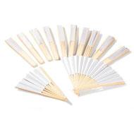 Abanicos para decorar blancos lote de 12