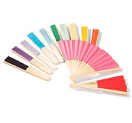 Abanicos para decorar de colores lote de 12