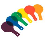 Paleta de colores translúcidos el conjunto