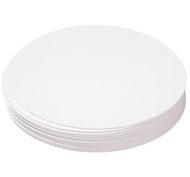 Papel blanco liso redondo especial pintura lote de 200