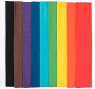 Rollo de papel crespón 28 g colores vivos lote de 10