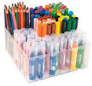Estuche escolar 138 rotuladores y lapices de colores el conjunto