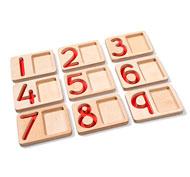 Bandejas numeradas del 1 al 9 lote de 9