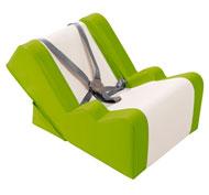 Tumbona/sillón bebé origami lona revestida de origen bio la unidad