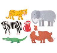 Mis primeros puzzles progresivos gigantes  animales de la selva el conjunto