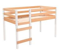Cama alta de madera maciza cama individual la unidad